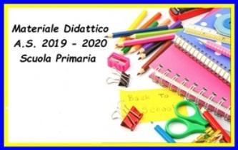 PRIMARIA- ELENCHI MATERIALI PER CLASSE a.s 2019/20