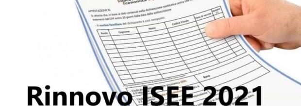 RINNOVO CERTIFICAZIONE ISEE 2021