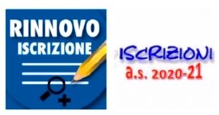 Rinnovo Iscrizione online 2020/21-entro il 20 giugno