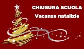 Vacanze di Natale dal 23 dicembre al 6 gennaio