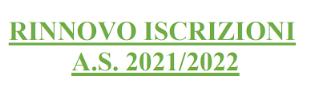 ENTRO 3 GIUGNO – Rinnovo Iscrizione online prossimo AS 2021/22
